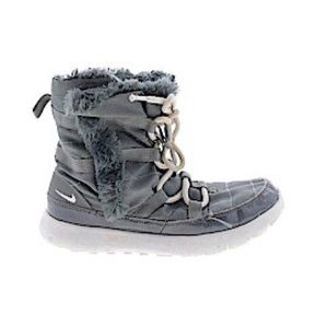 Nike Gray Sherpa Lined High Sneaker Boot